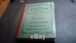 WW stamp collection in Scott International album copyright 1930