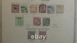 WW stamp collection in antique 19th century SENF album with metal clasp with1400