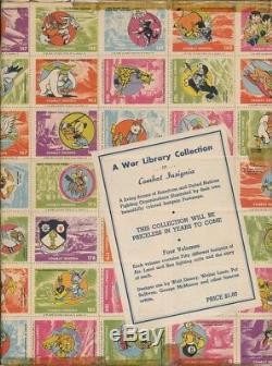 Walt Disney-WWD-7- WW 2- Four Combat Insignia Stamp albums withstamps & box. RARE