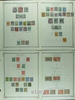 Weeda GB Used & Mint Collection from #1 Penny Black to 1968, on album pages