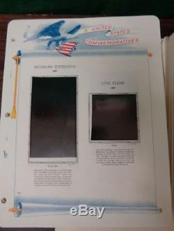 White Ace Commemorative Plate Block Stamp album Collection pages 1932-99 withmount