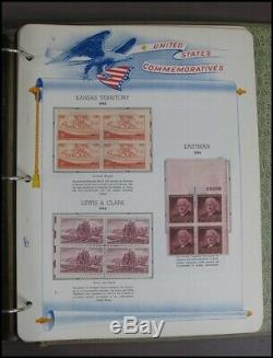 White Ace Historical Commemorative Album 1939-1957 USPS Stamp Collection 100 pgs