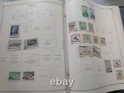 Wonderful worldwide stamp collection in Scott international album. 1940s forward