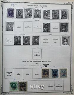 World Antique Stamp Collection in 1908 Scott International Album