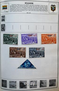 World Stamp Collection in Stuffed Giant Statesman Album 10,000+ Stamps