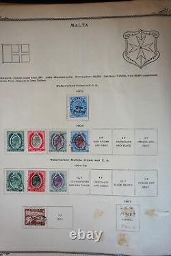 Worldwide G-V Antique Stamp Collection in Scott Brown Album