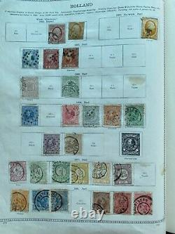 Worldwide Stamp Collection in Battered 2nd Edition Ideal Album High Cat Value