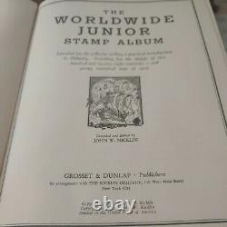 Worldwide boutique stamp collection in very old 1937 album. Vintage of course