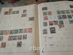 Worldwide stamp collection in 1928 Scott album. SERIOUS COLLECTORS THIS IS IT