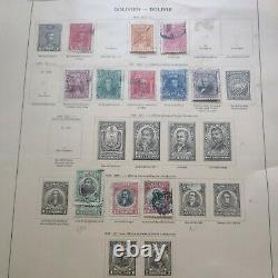 Worldwide stamp collection in 1935 Scott album1896 forward. Serious collectors