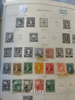 Worldwide stamp collection in Mammoth Scott album. 1868 forward. True vintage