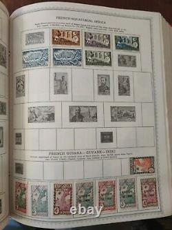 Worldwide stamp collection in minkus and Harris album pages from 1850s forward