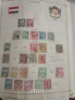Worldwide stamp collection in old Harris citation album. 1860 forward. Super++