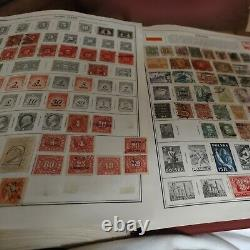 Worldwide stamp collection in perfect Harris album. 1890s fwd. Many countries