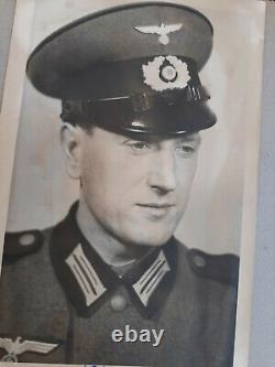 Wwii Era German Family Photograph Album, Inc. Hj, Army, Postcards, Stamps