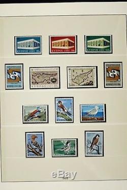 Zypern 1960 1983 Schöne Sammlung Postfrisch im Lindner-T Album Collection MNH