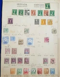 1861-1908 Grenade Qv Early Collection Lot On Old Album Page Used & Mh Inc Sg1