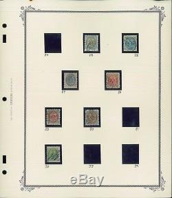 1870-1973 Danemark Utilisé Stamp Collection Frais De Ports Sur L'album Pages Valeur 660 $
