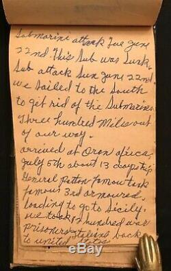 1943 Seconde Guerre Mondiale Temps De Soldat Guerre Écrite À La Main Champ Autograph Livre / Timbre Album