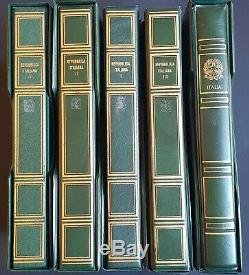 1945-1999 République D'italie Grand Collection Dans 5 Albums Tous Mint Mnh CV Énorme