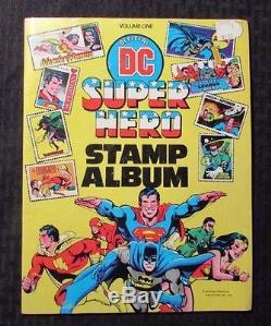 1976 DC Super Hero Timbre Album V. 1 Fn + 6.5 Avec Tous Les Timbres Apposés