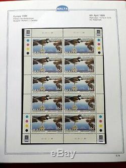 1991-2015 Collection Malte Album -sheetlets Miniatures Sheets Valeur Du 380+