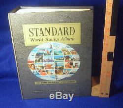 3 Big Livres Albums World Standard Timbre Collection H E Harris Beaucoup De Nombreux Timbres