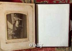 Album Antique 75 Photos De Nombreux ID Massachusetts Cities CIVIL War Tax Stamps