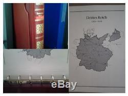 Album Avec Timbres-poste Reich Allemand 1933-1945. Collection Complète Dans L'album