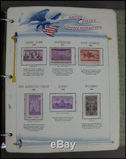 Album Commémoratif Historique White Ace 1939-1957 Collection De Timbres Usps 100 Pages