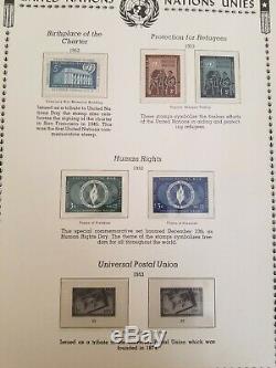 Album De La Collection De Timbres Des Nations Unies Avec Décors Et Numéros Commémoratifs 1951-1994