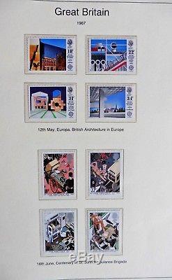 Album De Timbres De Luxe De La Collection Westminster GB Mint Um Decimal 1971-1989