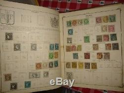 Album Stamp, Fantastique Collection Mondiale Dans Un Scott Du 19ème Siècle Album