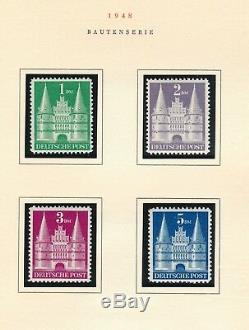 Allemagne Et Berlin 1949 1951 Collection De Timbres Mnh Sur Le Hcv Dans L'album D'exposition De Bruxelles