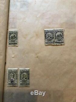 Ancien Album De Collection De Timbres, Timbres