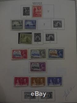 Antigua Beautiful Toute La Collection Mint Sur Les Albums Avec Beaucoup Mieux. Sg Cat £ 517