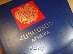 Arménie 1993-2000 Collection Complète De Timbres Mnh Hébergés Dans Un Album De Luxe