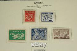 Belle Collection De Timbres De Corée, Lot D'albums Scott, Début 1889