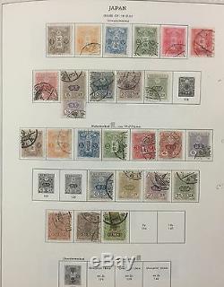 Bj Stamps Japan, 1875-1976, Dans L'album Minkus, Mint Hinged & Used. 916 $
