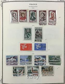 Bj Timbres France, 1849-1993, Dans L'album Scott, Mélangé Mnh, Monnaie Et Used.'17 2297 $