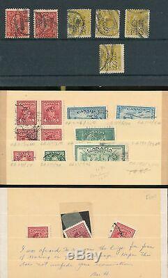 Canada 1851/1969 M & U Davo Album Imprimé Sans Charnière (400+) Gm27