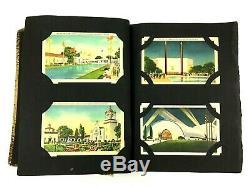 Carte Postale Album Collection Vintage 190 Cartes Places Lot Ephemera Timbres Carte Postale