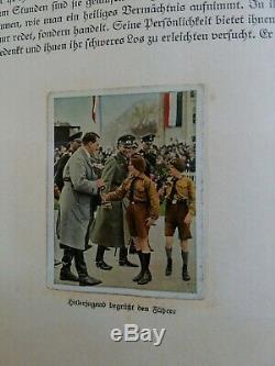 Carte Vintage 1933 Seconde Guerre Mondiale Propagande Allemande Cigarette / Stamp Album Rare
