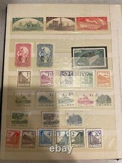 China Stamps Collection Dans L'album Rare Everything Is Pictured Rare Very Nice