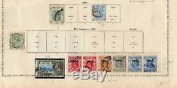 Chine + Hong-kong 1862/1954 Petit Utilisé Collection Sur Old Album Pages CV 1430