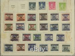 Chine Stamp Collection Lot Album Scott Pages 1946-1958 Menthe