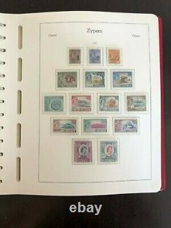 Chypre 1960-1991 Mnh Collection Leuchtturm Pré-imprimé Album 1579$