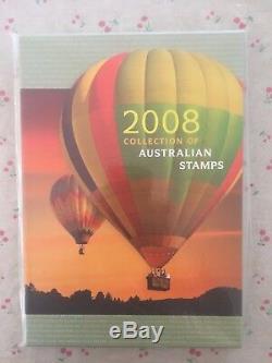 Collection 2008 Australian Post Yearbook Album Avec Muh Timbres Deluxe
