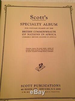 Collection Afrique Colonie Britannique Timbres, Scotts Albums De Nombreux Pays, Plus De 800