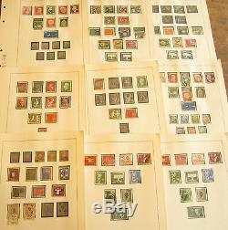 Collection Beaucoup Timbre Allemagne Menthe Des Années 1950-1970 Utilisé Sur Des Pages D'album Sans Charnières De Lindner